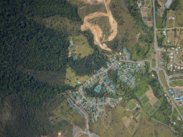 Photo aerienne de la Nouvelle-Caledonie ; Source : SERAIL & Gouvernement NC (DITTT) ; Contact : topo.dittt@gouv.nc